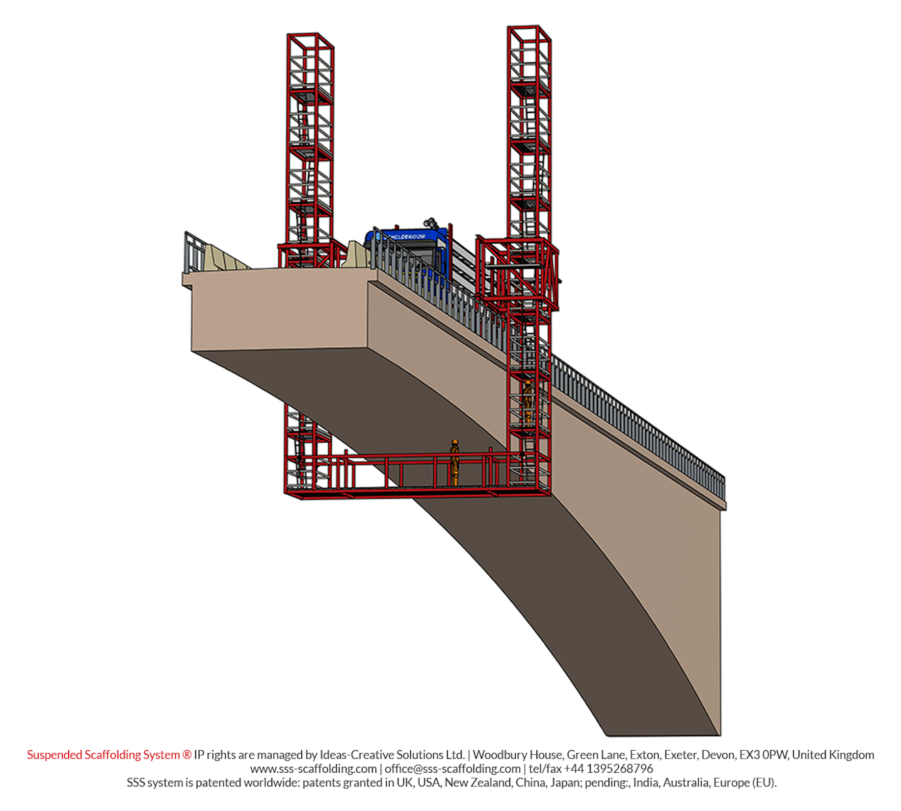 Suspended Decking: Suspended Scaffolding System